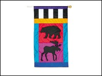 Bear and Moose Flag