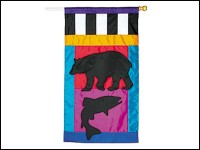Bear and Fish Flag