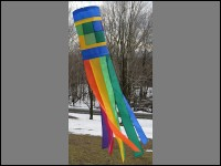 45″ Checkerboard Rainbow Windsock