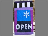 Snowflake Open Flag