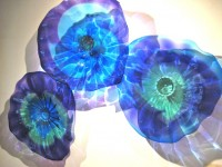 Optic Flower Wall Platter Group