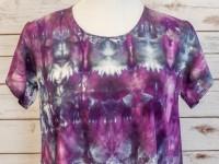 Women's Rayon Cap Sleeve Blouse – purple