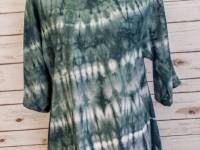 Women's Rayon Asymmetrical Top – blue/green