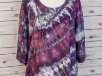 Women's Rayon Asymmetrical Top – purple ice