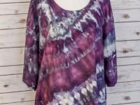 Women's Rayon Asymmetrical Top – purple ice