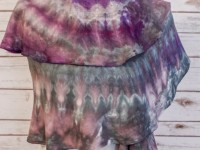 Rayon Spiral Scarf – purple/black ice