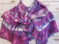 Spiral Scarf – purple ice