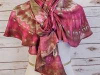Spiral Scarf – wine ice